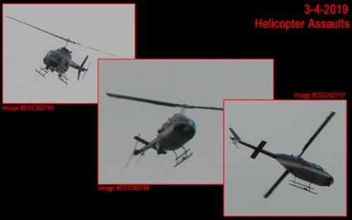 On March 4, 2019 a helicopter circled my house (just like the recent 12-22-2019 Coast-To-Coast Event) and harassed me, as my mom sat horrified in my car. Just one of many-many such harassment events. [(c)2019MarianRudnyk. All Rights Reserved.]
