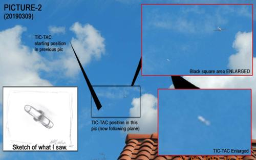 On March 9, 2019, a tic-tac ufo dropped out of the clouds and briefly followed a DA-40 spy plane that was trolling the skies above my house, and then burst back into the clouds. [(c)2019MarianRudnyk. All Rights Reserved.]