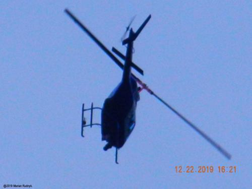 In this dramatic photo the helicopter suddenly veers around & swings in low directly at me. Make sure to check out the dramatic video of this event posted among my videos here. [(c)2019MarianRudnyk. All Rights Reserved.]