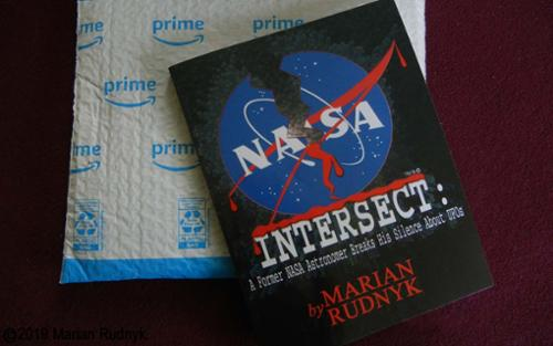 The paperback Edition of my book INTERSECT. As you can see it s large and oversized. t contains some bonus material versus the eBook, and the pictures have been maximally sized to fill the pages.  [(c)2019MarianRudnyk. All Rights Reserved.]